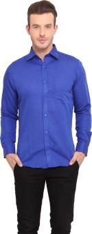 Ennoble Men's Solid Casual Linen Shirt