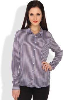 Ten On Ten Women's Striped Casual Shirt - SHTE2X6SXPPC8PDE