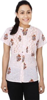 Samprada Floral Delight Women's Printed Casual Shirt