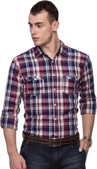 Max Men's Checkered Casual Shirt