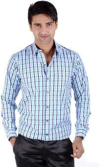 S9 Men Men's Checkered Casual, Formal Shirt