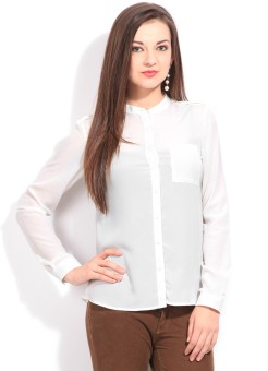 Van Heusen Women Solid Casual Shirt