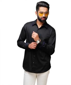 Yepme Men's Printed Casual Black Shirt