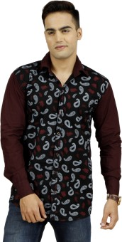 Muxyn Men's Printed, Solid Casual Shirt