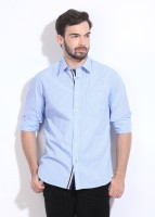 Indian Terrain Men's Striped Casual Shirt