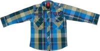 Chinar Shirts Denim Wear Boy's Checkered Casual Shirt - SHTE6MVKK7VJVDN5