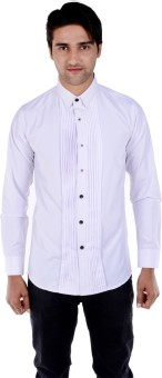S9 Men Men's Solid Formal, Wedding, Party Shirt
