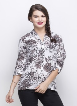 Oxolloxo Printed Short Women's Printed Casual Shirt