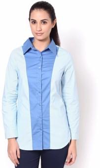 Kaaryah Mila Women's Striped Casual Shirt - SHTE3HG9PBVUXPFR