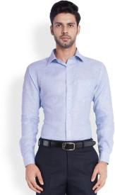 Park Avenue Men's Solid Formal Linen Purple Shirt