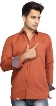 Urban Navy Men's Solid Casual Linen Shirt