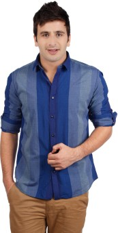 Compare V.DOT Men Striped Casual Shirt: Shirt at Compare Hatke