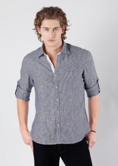 Compare Laven Men Striped Casual Shirt: Shirt at Compare Hatke