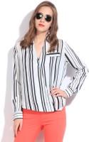 Remanika Women's Striped Casual Shirt