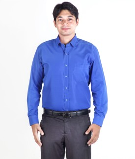Hawk Office Wear Men's Solid Formal Reversible Shirt