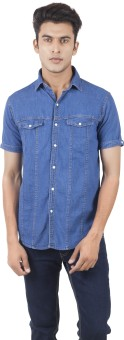 Vazir Men's Solid Casual, Lounge Wear Shirt