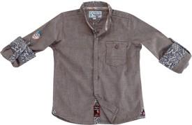 Biker Boys Boy's Solid Casual, Festive, Party Shirt