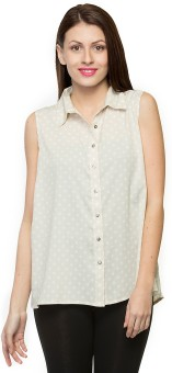 Oxolloxo Polka Dot Women's Printed Casual Shirt