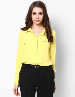 Femella Ds-628589 Women's Solid Casual Shirt