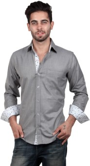 S9 Men Men's Solid, Woven, Printed Casual, Party, Festive Shirt