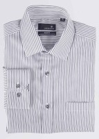 Urbana Men's Striped Formal Shirt