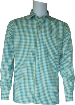Ardeur Men's Checkered Formal, Festive White, Light Blue, Light Green Shirt