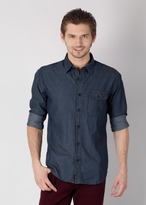 Buy Derby Jeans Community Men's Solid Casual Shirt: Shirt