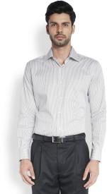 Raymond Men's Striped Formal Black Shirt