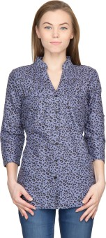 Famous By Payal Kapoor Women's Animal Print Casual Shirt