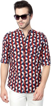 Indus Route By Pantaloons Men's Printed Formal Shirt