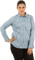 LastInch Women's Floral Print Casual Shirt