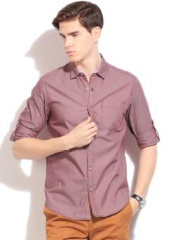 The Indian Garage Co. Men's Solid Casual Shirt - SHTEFFFEDEKRCYUZ