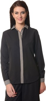 Meira Women's Solid Party Shirt