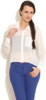 FREECULTR Women Solid Casual Shirt