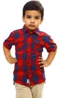 Bio Kid Short Sleeve Baby Boy's Checkered Casual Shirt - SHTE4DHFEXVZHRZB
