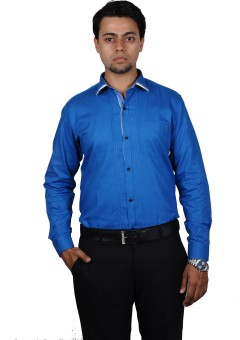 The Mods Casual Blue Shirt Men's Solid Casual, Party, Lounge Wear Shirt