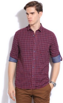 CODE CASUALS Men's Checkered Casual Shirt