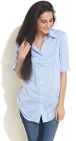 Soie Women's Solid Casual Shirt