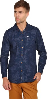 Wajbee Men's Floral Print Casual Shirt