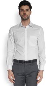 Raymond Men's Printed Formal White Shirt