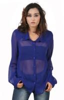 Hypernation Women's Solid Casual, Party Shirt - SHTEYQHFVPHGSGSA