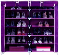 Pindia Fancy 6 Layer Double Purple Shoe Rack Organizer Polyester Standard Shoe Rack (Purple, 6 Shelves)