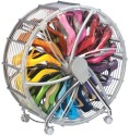 Shopper52 Polypropylene Wheel Shoe Rack (White)