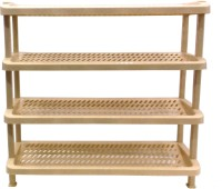 RK Shoerack 4 Steps Plastic Standard Shoe Rack (Beige, 4 Shelves)