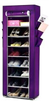 Pindia Aluminium, Polyester Standard Shoe Rack (Purple, 9 Shelves)