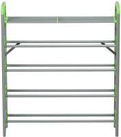 Nilkamal Plastic Standard Shoe Rack (Silver, Green)