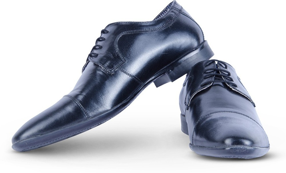 Burkley Black Formal Pure Leather Shoes