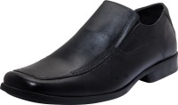 Zovi Black Formal Shoes Slip On