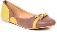 Lyc Sole Provider Brown Flat Ballerinas Bellies