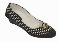 Bare Soles Polka Denim Belly Bellies Black